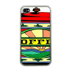 Coffee Tin A Classic Illustration Apple iPhone 4 Case (Clear)