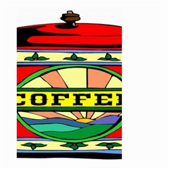 Coffee Tin A Classic Illustration Small Garden Flag (two Sides)