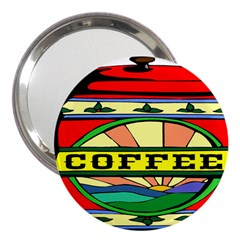 Coffee Tin A Classic Illustration 3  Handbag Mirrors