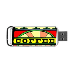 Coffee Tin A Classic Illustration Portable Usb Flash (two Sides)