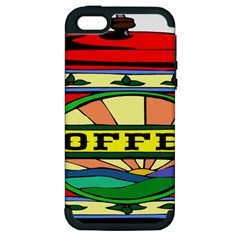 Coffee Tin A Classic Illustration Apple Iphone 5 Hardshell Case (pc+silicone)