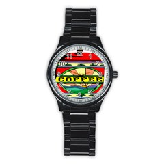 Coffee Tin A Classic Illustration Stainless Steel Round Watch