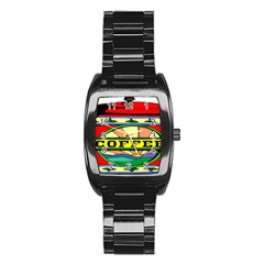 Coffee Tin A Classic Illustration Stainless Steel Barrel Watch