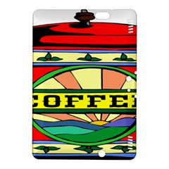 Coffee Tin A Classic Illustration Kindle Fire Hdx 8 9  Hardshell Case