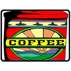 Coffee Tin A Classic Illustration Double Sided Fleece Blanket (Large)