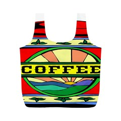 Coffee Tin A Classic Illustration Full Print Recycle Bags (m)