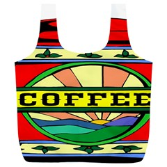 Coffee Tin A Classic Illustration Full Print Recycle Bags (l)