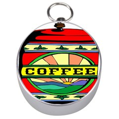 Coffee Tin A Classic Illustration Silver Compasses