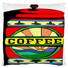 Coffee Tin A Classic Illustration Large Flano Cushion Case (two Sides)