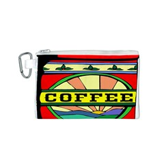 Coffee Tin A Classic Illustration Canvas Cosmetic Bag (S)