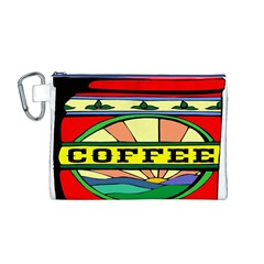 Coffee Tin A Classic Illustration Canvas Cosmetic Bag (M)
