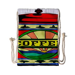 Coffee Tin A Classic Illustration Drawstring Bag (small)