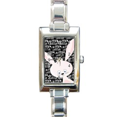 Easter bunny  Rectangle Italian Charm Watch