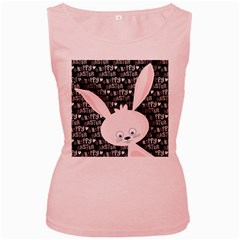 Easter bunny  Women s Pink Tank Top
