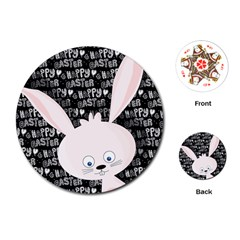 Easter bunny  Playing Cards (Round)