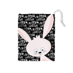 Easter bunny  Drawstring Pouches (Medium)