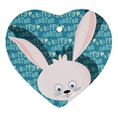 Easter bunny  Ornament (Heart)