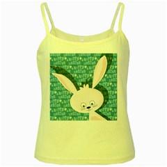 Easter bunny  Yellow Spaghetti Tank