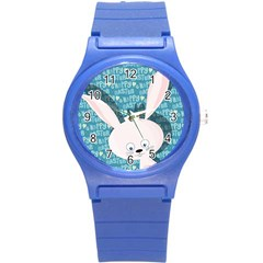 Easter bunny  Round Plastic Sport Watch (S)