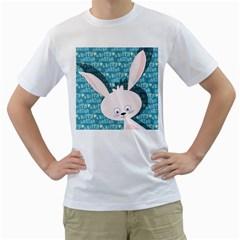 Easter bunny  Men s T-Shirt (White)
