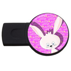 Easter bunny  USB Flash Drive Round (2 GB)