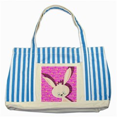 Easter bunny  Striped Blue Tote Bag