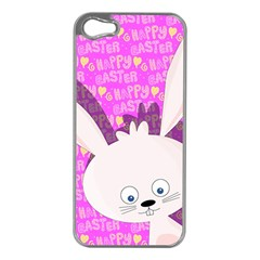Easter bunny  Apple iPhone 5 Case (Silver)