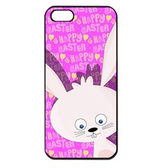 Easter bunny  Apple iPhone 5 Seamless Case (Black)