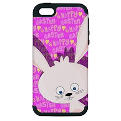 Easter bunny  Apple iPhone 5 Hardshell Case (PC+Silicone)