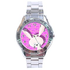 Easter bunny  Stainless Steel Analogue Watch