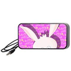 Easter bunny  Portable Speaker (Black)