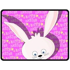 Easter bunny  Double Sided Fleece Blanket (Large)