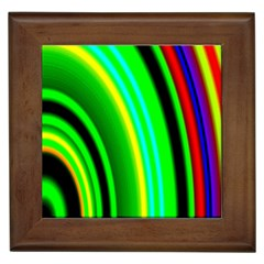 Multi Colorful Radiant Background Framed Tiles