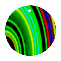 Multi Colorful Radiant Background Ornament (Round)