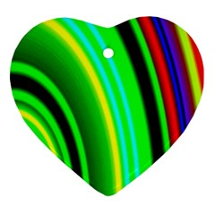Multi Colorful Radiant Background Ornament (Heart)
