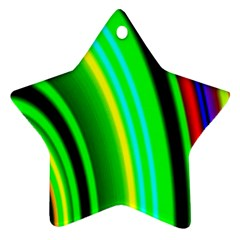 Multi Colorful Radiant Background Ornament (star)