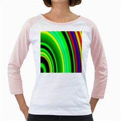 Multi Colorful Radiant Background Girly Raglans