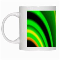 Multi Colorful Radiant Background White Mugs