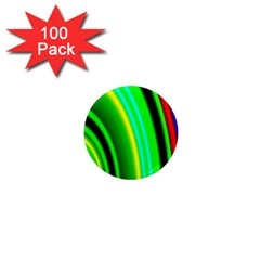 Multi Colorful Radiant Background 1  Mini Magnets (100 Pack)