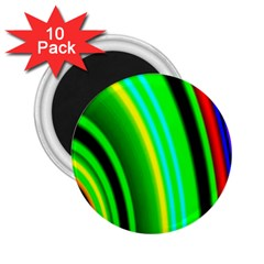 Multi Colorful Radiant Background 2 25  Magnets (10 Pack)