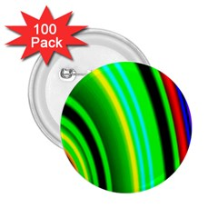 Multi Colorful Radiant Background 2 25  Buttons (100 Pack)