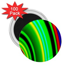 Multi Colorful Radiant Background 2.25  Magnets (100 pack)