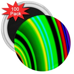 Multi Colorful Radiant Background 3  Magnets (100 pack)