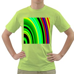 Multi Colorful Radiant Background Green T-Shirt