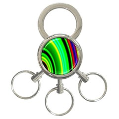 Multi Colorful Radiant Background 3-Ring Key Chains