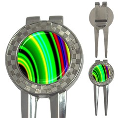 Multi Colorful Radiant Background 3-in-1 Golf Divots