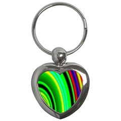 Multi Colorful Radiant Background Key Chains (Heart)