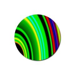 Multi Colorful Radiant Background Rubber Coaster (round)