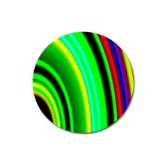 Multi Colorful Radiant Background Magnet 3  (Round)
