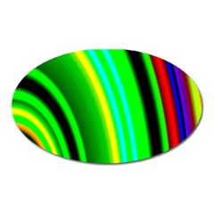 Multi Colorful Radiant Background Oval Magnet